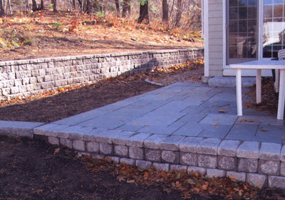 Patio and wall construction Massachusetts Landscaping by Perennial Landscaping