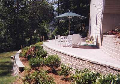 Patio and Retainging wall