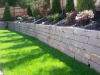 Reclaimed granite wall