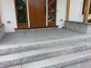 Custom built granite steps