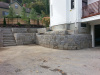 Newton MA Granite retaing wall